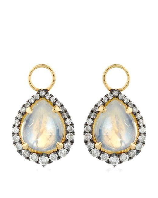 Annoushka | Metallic Moonstone Earring Drops | Lyst