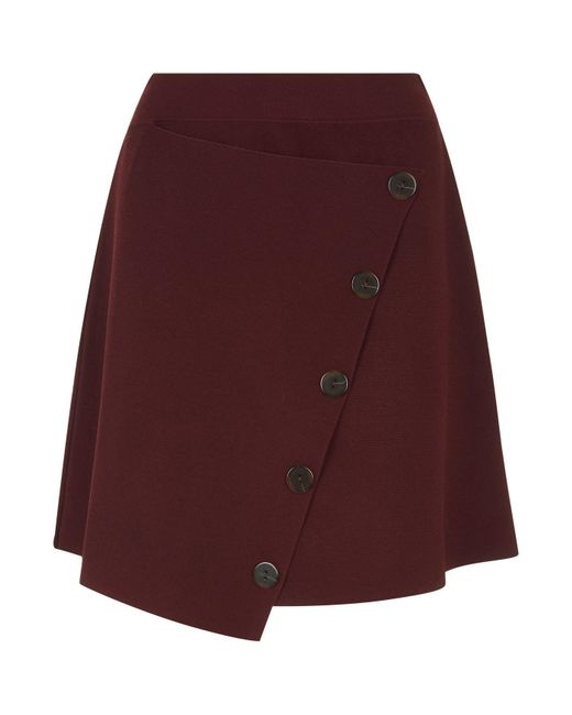 Sandro - Red A-line Button Skirt - Lyst