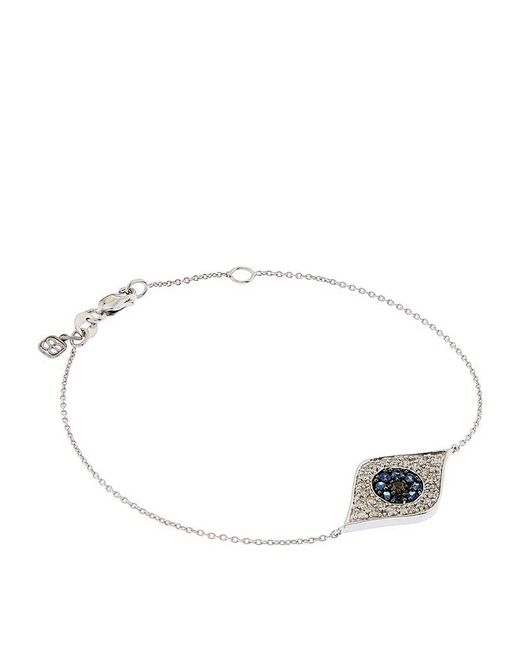 Sydney Evan | Metallic Large Pavé Diamond Evil Eye Bracelet | Lyst