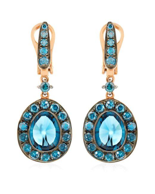 Annoushka - Blue Dusty Diamonds Topaz Drop Earrings - Lyst