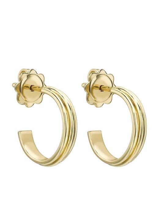 Theo Fennell | Metallic Gold Whip Small Hoop Earrings | Lyst