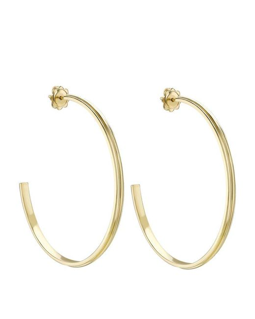 Theo Fennell | Metallic Gold Whip Large Hoop Earrings | Lyst