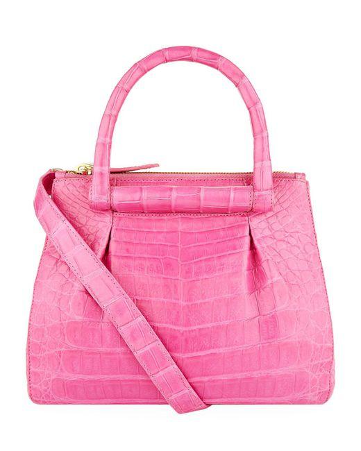 Nancy Gonzalez | Pink Mini Pliss Crocodile Cross Body Bag | Lyst