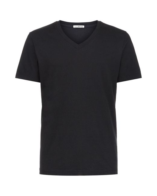 James perse v neck t shirt in black for men lyst for James perse t shirts sale