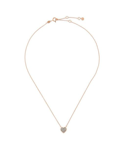 Links of London | Metallic Diamond Essentials Pavé Diamond Heart Necklace | Lyst