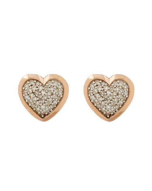 Links of London | Metallic Diamond Essentials Pavé Diamond Heart Earrings | Lyst