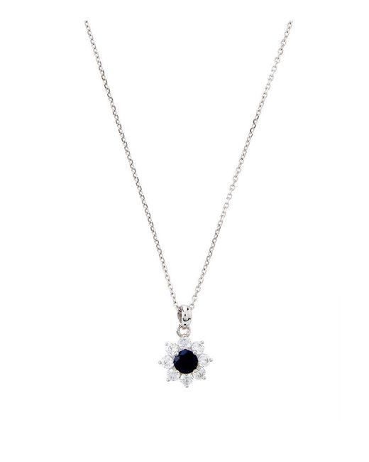 Carat* | Metallic 0.33ct Fancy Round Sapphire Necklace | Lyst