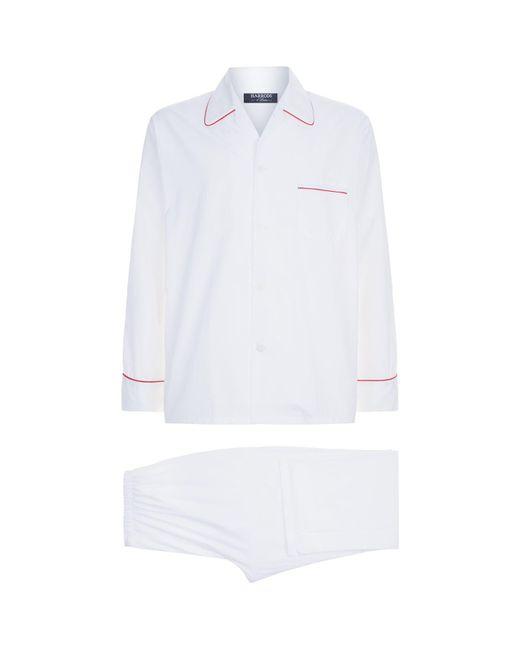 Harrods - White Cotton Pyjama Set for Men - Lyst