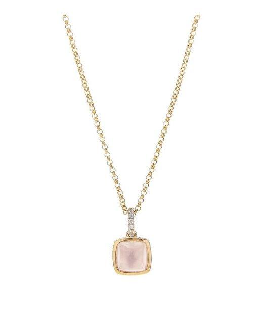 Links of London | Pink Luna Gems Rose Quartz Necklace | Lyst