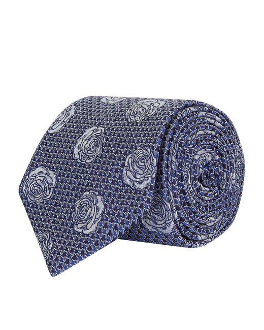 Turnbull & Asser   Blue Houndstooth Rose Tie for Men   Lyst
