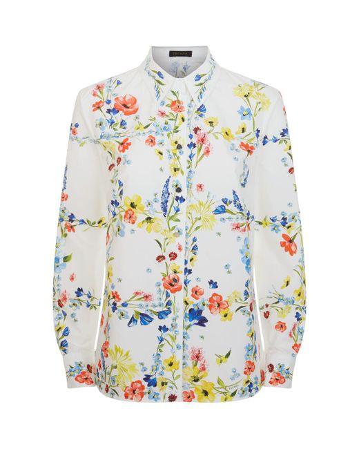 ESCADA - Blue Nicoli Floral Shirt - Lyst