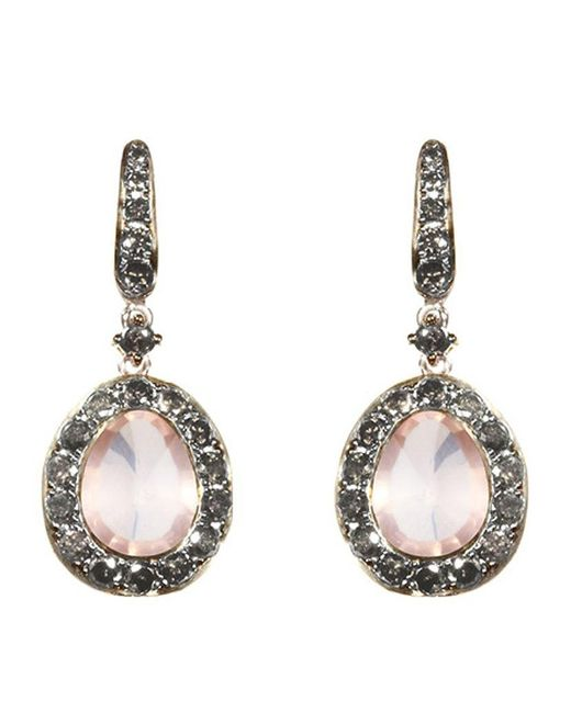 Annoushka | Pink Dusty Diamonds Rose Quartz Earrings | Lyst