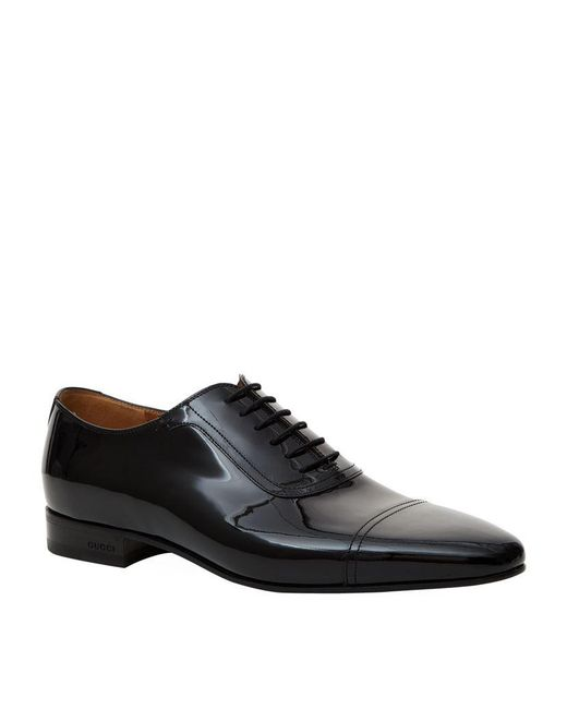 Gucci | Black Drury Patent Oxford Shoe for Men | Lyst