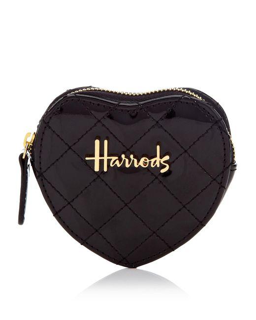 Harrods - Black Christie Heart Purse - Lyst