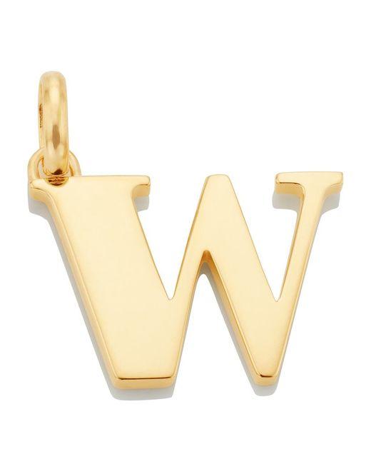Monica Vinader   Metallic Gold-plated Alphabet Pendant A-z   Lyst