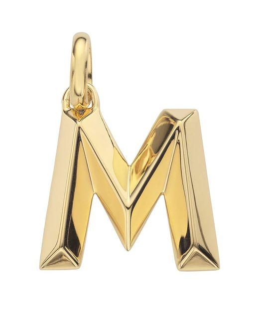 Monica Vinader | Metallic Gold Capital M Pendant | Lyst