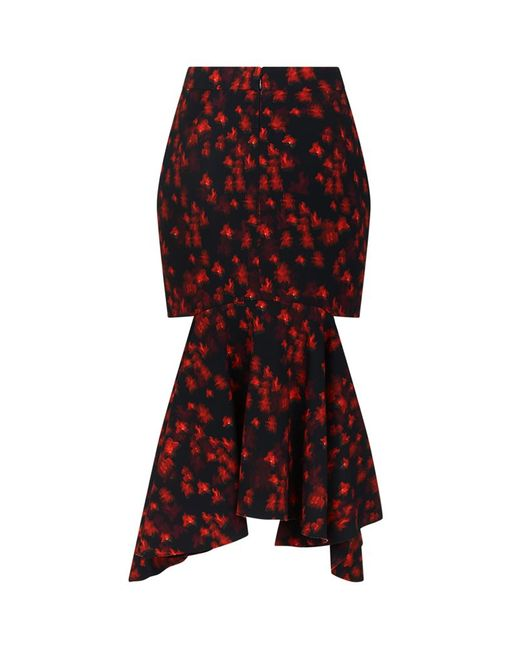 givenchy floral cut out midi skirt in lyst
