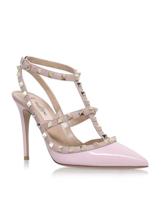 Valentino | Pink Rockstud Patent Pumps 100 | Lyst