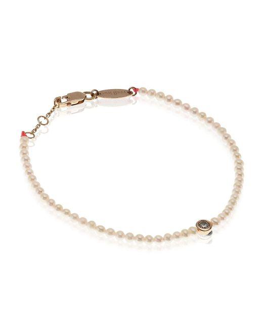 RedLine | Metallic Pearl And Diamond Bracelet | Lyst