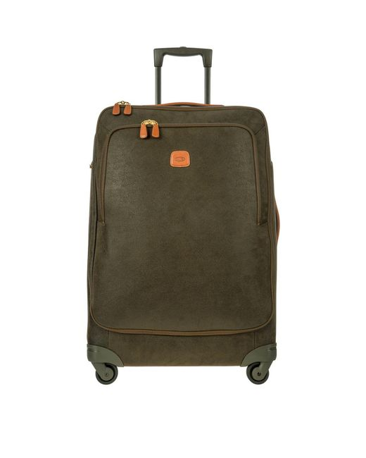 Bric's - Life Olive Green Micro Suede X-large Trolley for Men - Lyst