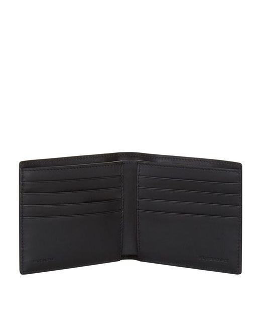 Burberry Alligator Trim Bifold Wallet In Black For Men Lyst