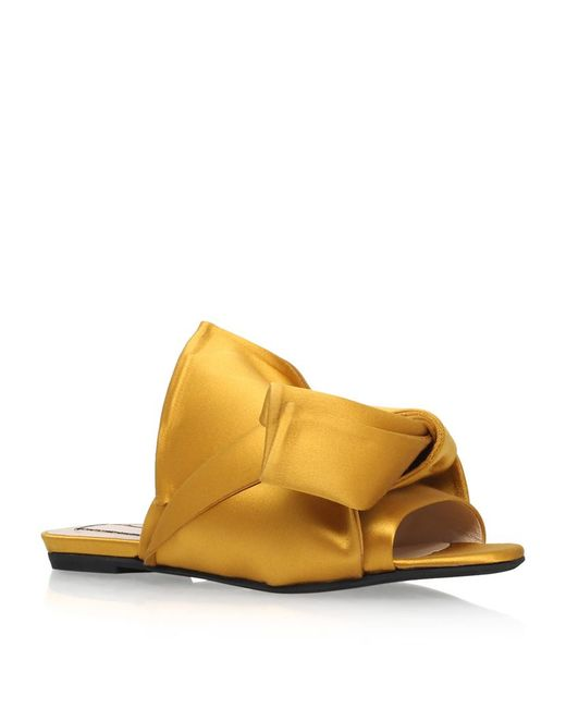 N°21 | Multicolor Satin Bow Slippers | Lyst