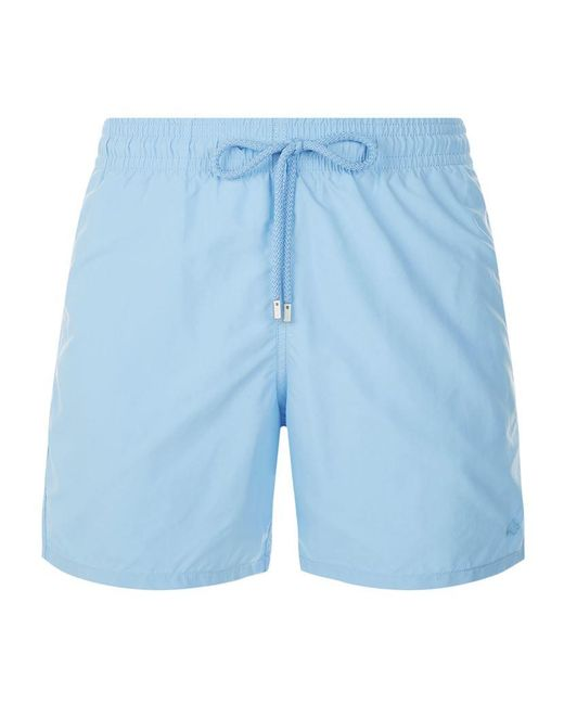 Vilebrequin embroidered fish moorea swim shorts in blue for Fishing swim trunks