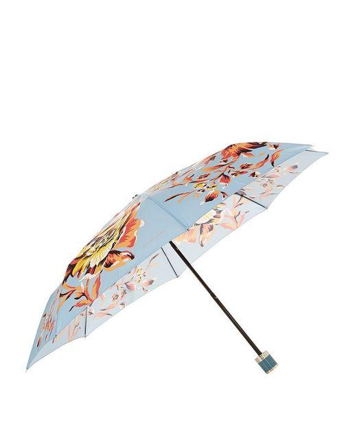 Burberry | Blue Heritage Check Walking Umbrella | Lyst