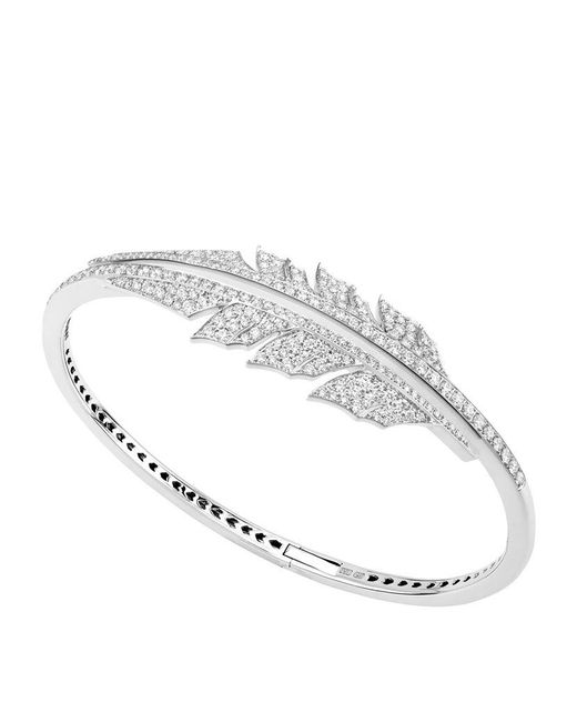 Stephen Webster | Metallic Magnipheasant Pavé Open Feather Bracelet | Lyst