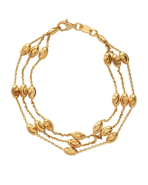 Links of London - Metallic Essentials Beaded 3 Row Bracelet - Lyst