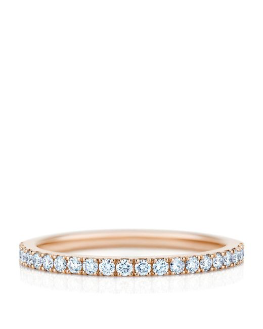 De Beers - Metallic Rose Gold And Diamond Aura Ring - Lyst