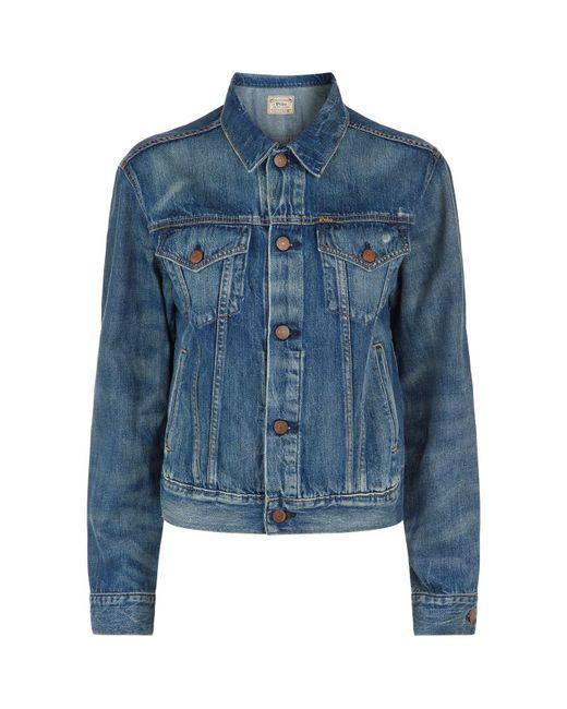 Polo Ralph Lauren - Blue Eve Denim Jacket - Lyst