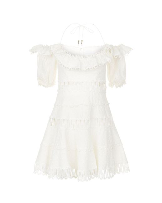 Zimmermann - White Melody Off The Shoulder Dress - Lyst