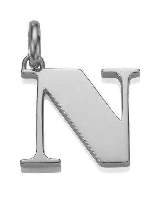 Monica Vinader - Metallic Sterling Silver Capital N Pendant - Lyst