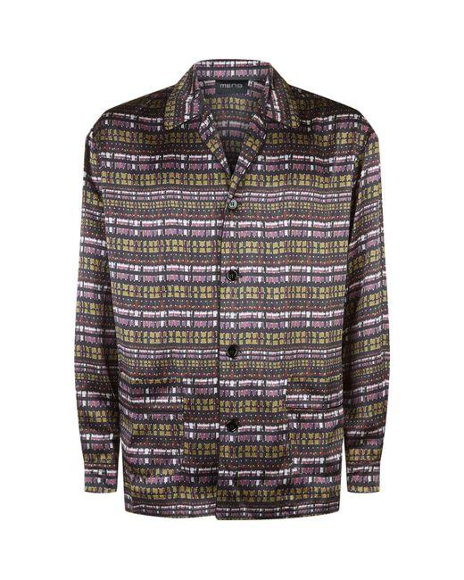 Meng - Black Printed Silk Pyjama Set for Men - Lyst