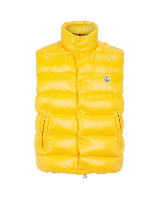 Moncler - Yellow Tib Quilted Gilet for Men - Lyst