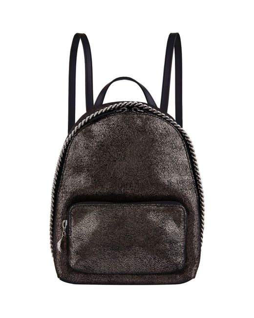 Stella McCartney - Metallic Mini Falabella Chamois Backpack - Lyst