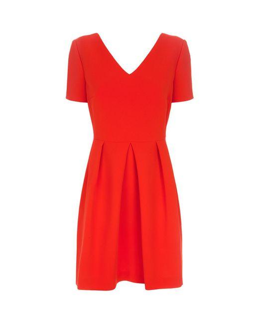 Claudie Pierlot - Red Rosaline Bow Detail Dress - Lyst