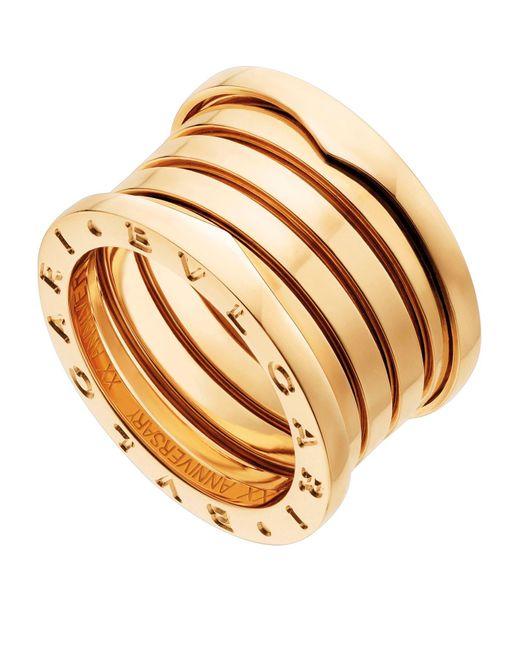 BVLGARI Metallic Yellow Gold B.zero1 20th Anniversary Ring