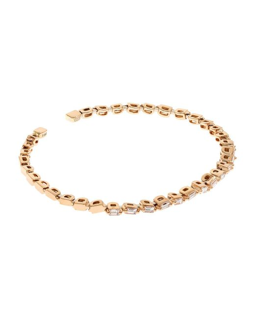 Suzanne Kalan - Pink Rose Gold Diamond Firework Bangle - Lyst