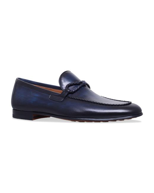 Magnanni Shoes - Blue Leather Loafers for Men - Lyst