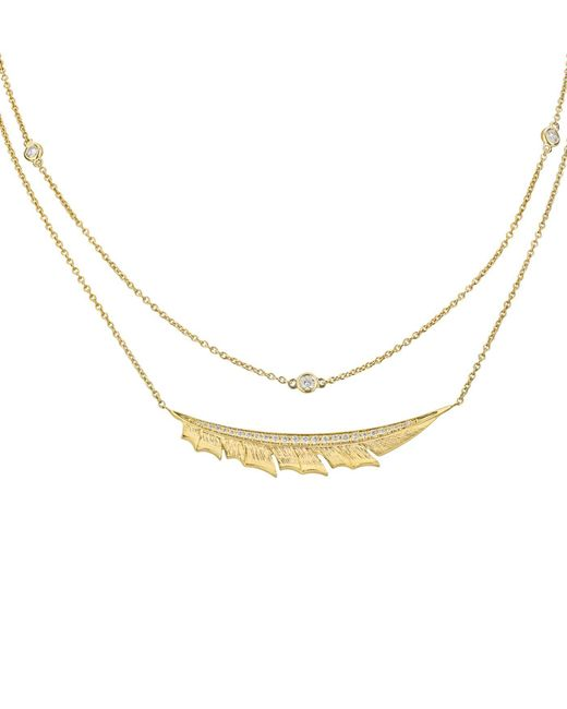Stephen Webster - Metallic Yellow Gold Magnipheasant Pav Diamond Split Necklace, One Size - Lyst