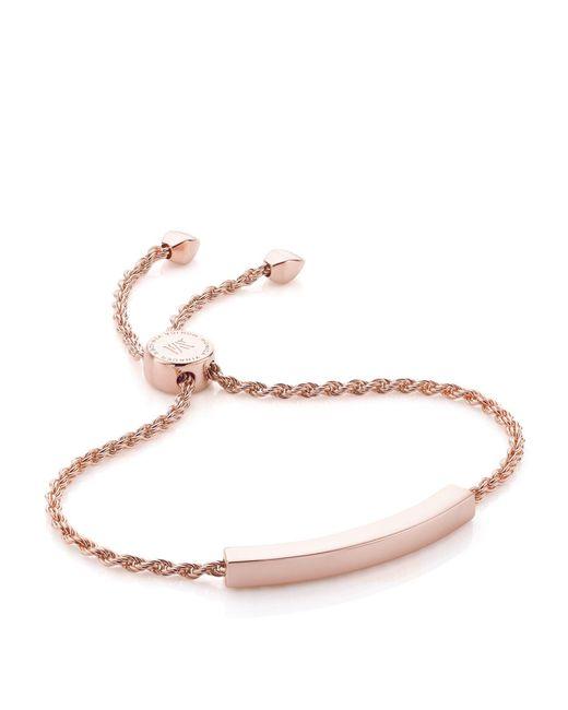 Monica Vinader - Pink Linear Chain Bracelet - Lyst