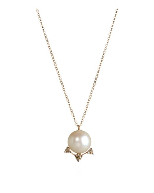 Annoushka - Metallic Diamonds And Pearls Pendant Necklace - Lyst