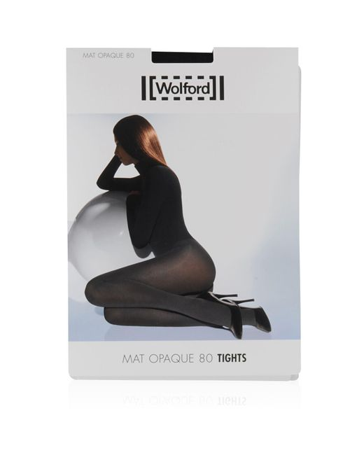 Wolford - Black Mat Opaque 80 Tights - Lyst