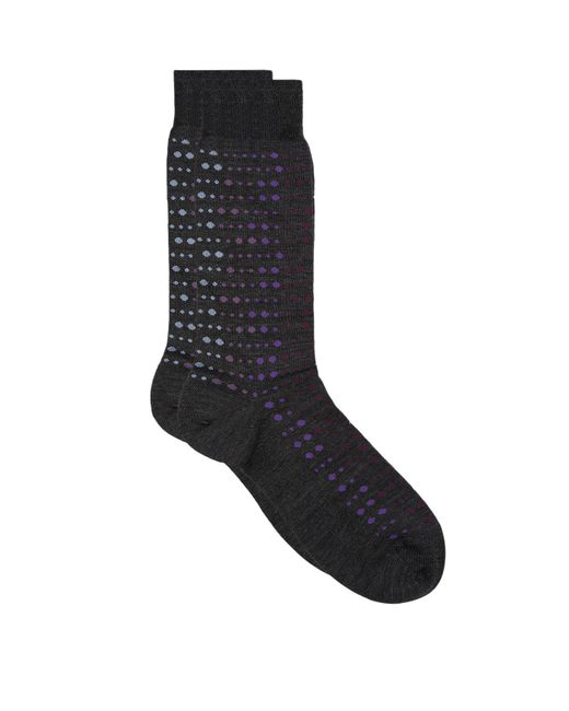 Pantherella | Gray Goswell Gradient Spot Knitted Socks for Men | Lyst