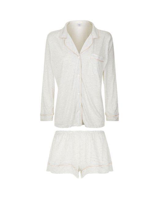 Eberjey - White Georgie Long Sleeve Pyjama Set - Lyst