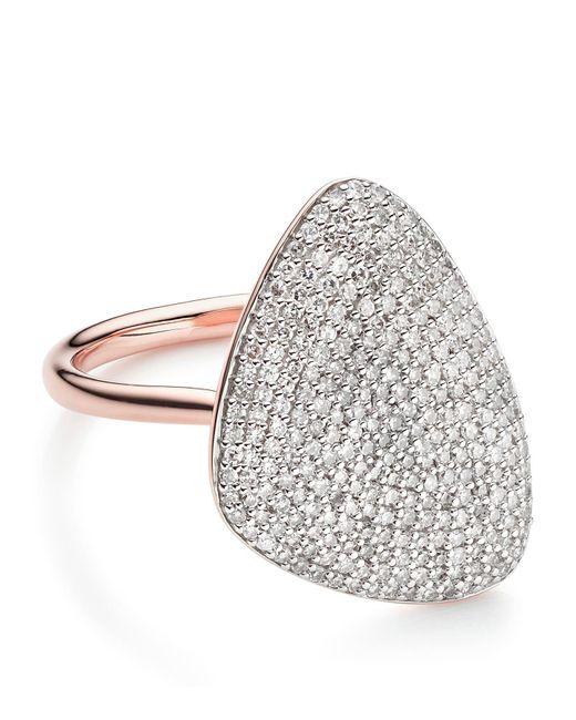 Monica Vinader - Metallic Nura Teardrop Diamond Ring - Lyst