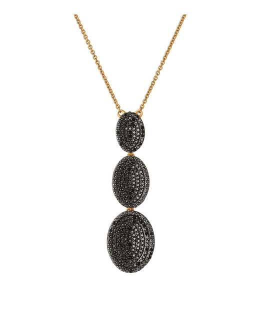 Links of London - Metallic Yellow Gold Vermeil And Diamond Concave Lariat Necklace - Lyst