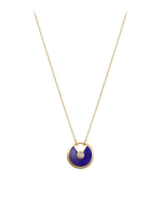 Cartier - Metallic Small Yellow Gold And Lapis Lazuli Amulette De Necklace - Lyst